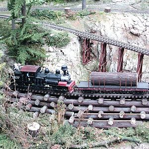 Cribbed Log Trestle