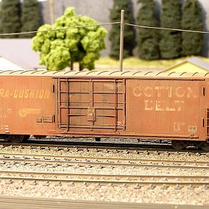 Weathered Cotton Belt Boxcar