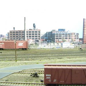 Bill Nesbitt's PRR W. Newark branch yard view