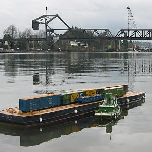 Salmon Bay Rail Barge
