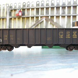 Weathered Walthers CSX 4 Bay Coal Hopper