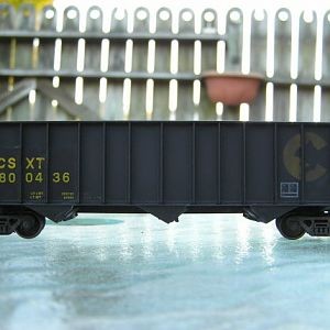 Weathered Bowser Chessie/CSX Patched 3 Bay Coal Hopper