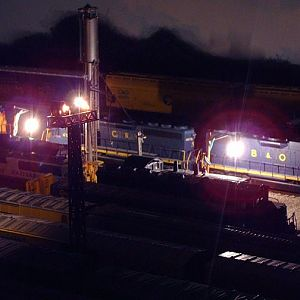 Night time at the service tracks