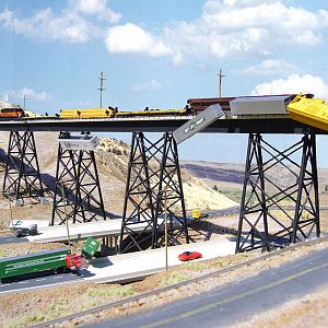 Milw #201 derails crossing Renslow Trestle in WA.