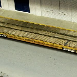 OTTX Flat Car Custom Weathered