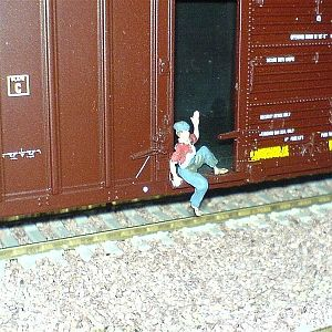 Hobo on the rails