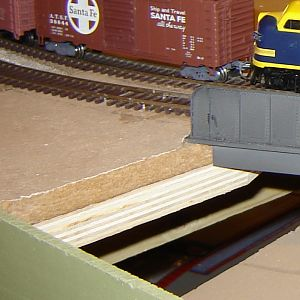 RR Roadbed is 1/2 sound board over 3/4 plywood.