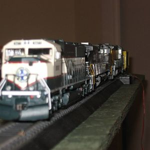 3 six-axle engines on a freight