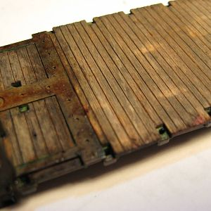 Weathered Flatcar Deck