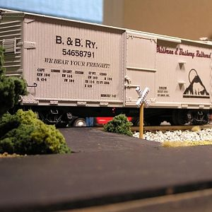 B and B RR Box Car #54658791