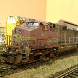 C44-9W Santa fe-Model railroad Brazil