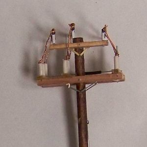 "HO Scale ""12KV"" Gang Switch Pole"