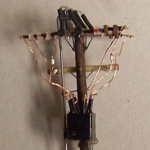 1950s Era HO Scale Gang Switch Recloser Pole