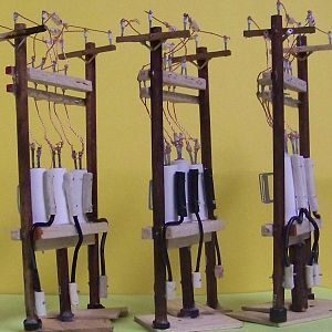 "HO Scale ""12KV"" Voltage Regulator Station (3X)"