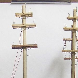 Ho Scale Hand Crafted 34.5/12 KV Power Poles