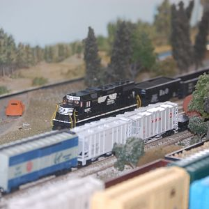 Norfolk Southern GP38 on Cape Fear Railroader's HO Layout