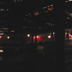 Night time in the roundhouse