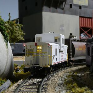 CPR caboose with lighting