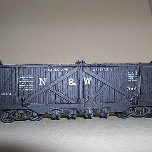 N&W wooden coal Hopper #7001
