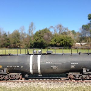 scratched tank car