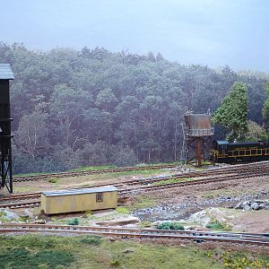 Coaling and water track, rarely used