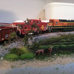N Scale Soybean Field