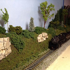 Trains running through Pine Valley